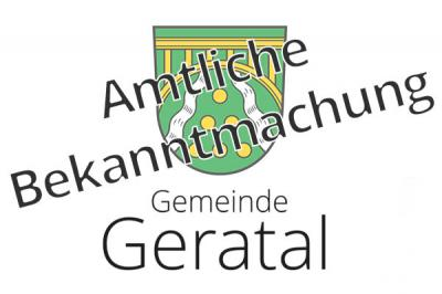 Foto zur Meldung: Amtliche Bekanntmachung der Meldestelle der Gemeinde Geratal zum Widerspruchsrecht gegen die Übermittlung von Meldedaten