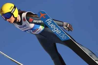 Die Skispringerin Ramona Straub träumt immer noch von einem WM-Start - Foto: Joachim Hahne / johapress