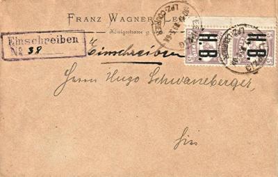 Courier Leipzig H.B. Einschreiben