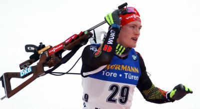 Benedikt Doll hat bei der IBU-Biathlon-Weltmeisterschaft auf der Pokljuka eine weitere Medaille im Visier - Foto: Joachim Hahne / johapress