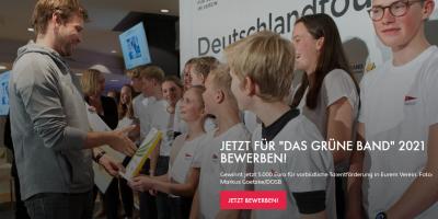 5.000 € für herausragende Nachwuchsarbeit - Das Grüne Band 2021
