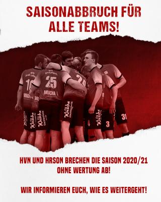 Saison 2020/2021 für alle Mannschaften offiziell abgebrochen