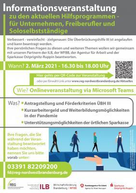 Online Informationsveranstaltung für Nordwestbrandenburg