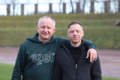 Henry Grieger ( links ) und Erik Grieger ( rechts )
