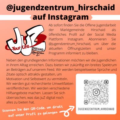 Foto zur Meldung: Jugendzentrum Hirschaid auf Instagram