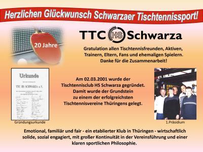 20 Jahre TTC HS Schwarza