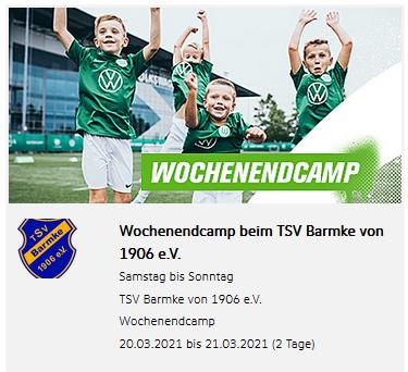 Foto zur Meldung: Fussballcamp mit dem VfL Wolfsburg fällt aus