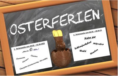 Osterferienplan und Anmeldeformular - bitte spätestens bis zum 17.03.2021 abgeben