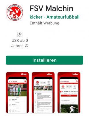 Foto zu Meldung: Malchiner Fußballer haben jetzt eine eigene App