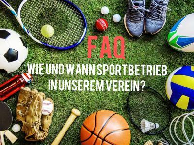 FAQ - Wie und wann Sport in unserem Verein im Landkreis Rostock?