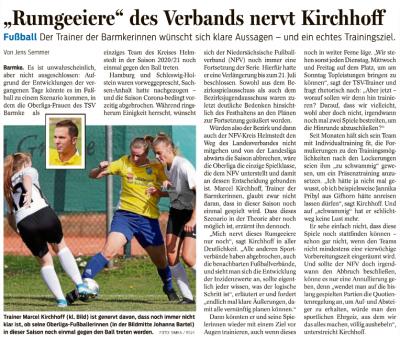 """Foto zur Meldung: """"Rumgeeiere"""" des Verbands nervt Kirchhoff"""