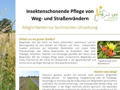 Informationsblatt zu insektenschonender Mahdtechnik