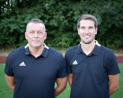 Trainerduo der 1.Herren: Stephan Ehlers und Florian Jochens