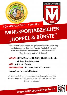Hoppel und Bürste - Das Kindersportabzeichen ONLINE