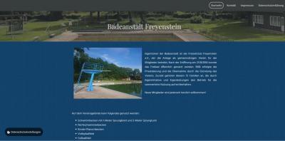 Website der Badeanstalt Freyenstein