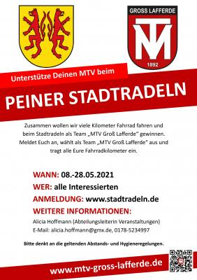 MTV nimmt am Peiner Stadtradeln teil