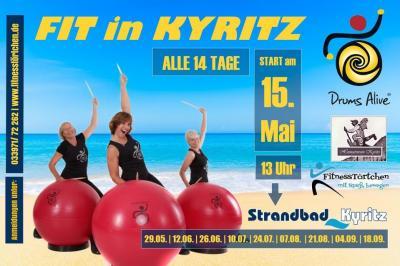 Foto zur Meldung: DrumsAlive im Strandbad Kyritz - Geburtstags-Challenge zum 20. Vereinsjubiläum