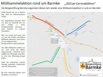 Foto zur Meldung: Müllsammelaktion 2021 - Bürgerstiftung Barmke