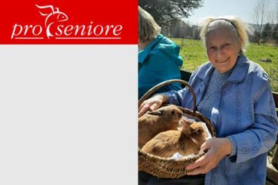 Foto zur Meldung: Der Osterhase schaute in der Pro Seniore Residenz Rosental persönlich vorbei