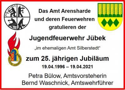 Die Jugendfeuerwehr Jübek ist 25 Jahre alt geworden 19.04.21