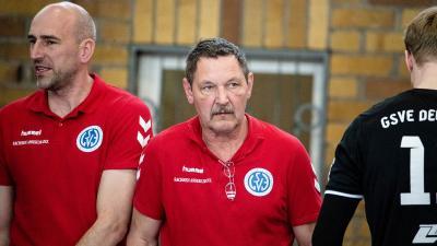 Steht kurz vor dem Saisonfinale: GSVE-Trainer Frank Pietzonka. ©Alexander Prautzsch