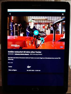 Foto zur Meldung: Schmalenseer im Fernsehen: Jannis und sein Trecker in aller Munde
