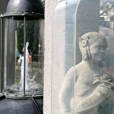 Wie viele Engel zieren den Hassia-Brunnen?