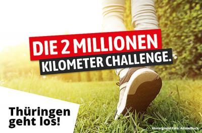 Foto zur Meldung: Die 2 Millionen Kilometer Challenge - Thüringen geht los
