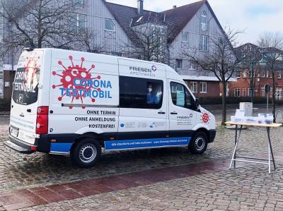 Foto zur Meldung: Corona-Testmobil kommt am 27. April nach Schmalensee