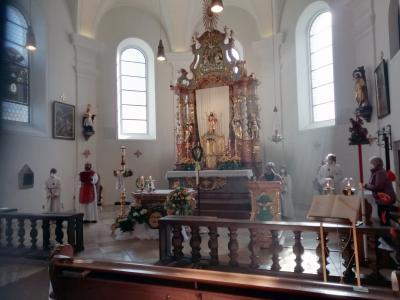 Foto zur Meldung: Kirchenpatrozinium St. Georg in der Pfarrkirche Prackenbach am Sonntag, 25. April 2021 gefeiert