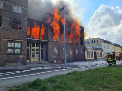 Brand Volkshaus (Quelle: weiswasser.de)