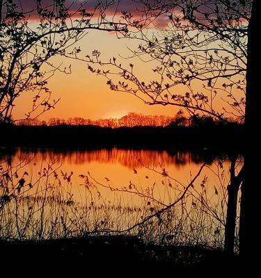 Foto zur Meldung: Himmel über Schmalensee durch das Smartphone von Gerhard Harder