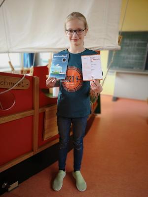 Machte den weitesten Kängurusprung: Alexandra, Klasse 4