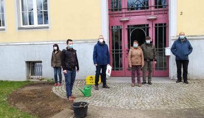 Der Beginn für etwas Größeres: Theodor Fontane als Rose am Gymnasium Wittstock gepflanzt
