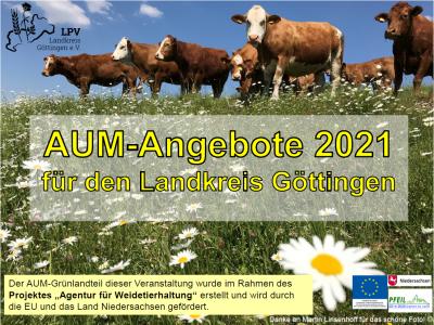 Info-Präsentation zu Agrarumweltmaßnahmen (AUM) 2021 jetzt online!