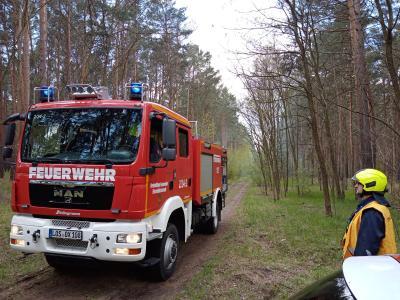 Ämterübergreifende Waldbrandübung am Großen Pohlitzer See
