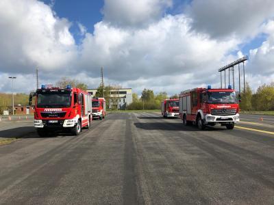 Fahrsicherheitstraining mit Feuerwehrfahrzeugen 08. + 22.05.21