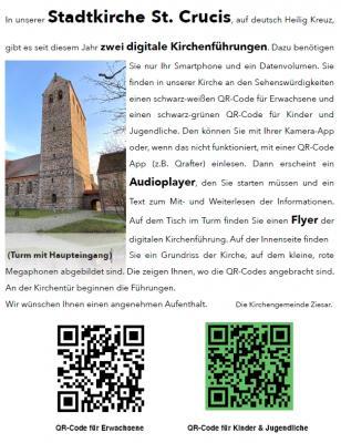Foto zur Meldung: Digitale Kirchenführung in der Stadtkirche