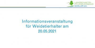 Informationsveranstaltung für Weidetierhalter Online