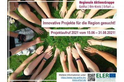 Foto zur Meldung: Innovative Projekte für die Region gesucht - Aufruf zur Einreichung von LEADER-Projektvorhaben in der Region Gotha – Ilm-Kreis – Erfurt gestartet!