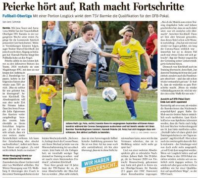 Foto zur Meldung: TSV Barmke im DFB-Pokal ?