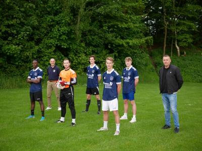 V. l.: Mohamad Sidibe, Markus Kaup, Tarik Joosten, Titus Kaup, Lucas Biebricher, Jannik Helms, Stephan Ehlers