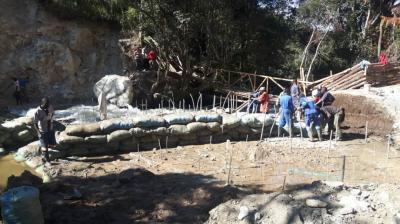 Foto zur Meldung: Wasserkraftwerk Tandala - Der Fluss wird umgeleitet