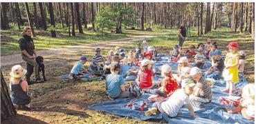 Foto zur Meldung: Groß Laasch - Kleine Strolche erobern den Wald