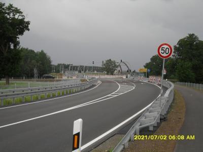 Kreuzungspunkt Frankenfelde kurz vor der am 02.07.2021 vorgenommenen Verkehrsfreigabe