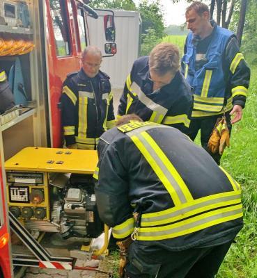 Foto zur Meldung: Regentief über Bornhöved – Feuerwehr Schmalensee doppelt im Einsatz