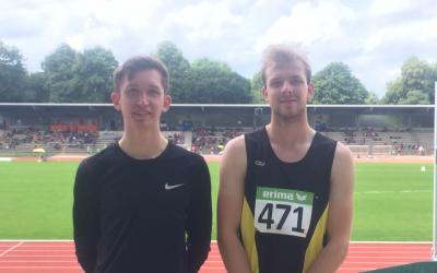 Niklas Pohl und Matthias Daniel nach dem Wettkampf