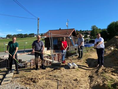 Foto zu Meldung: Spatenstich für die Pumpwerke der Gemeinde Prackenbach