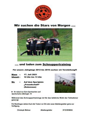 Fußball-Schnuppertag beim FSV Eintracht Eisenach