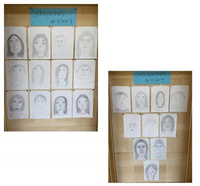 Foto zur Meldung: Selbstportraits der Klasse 4